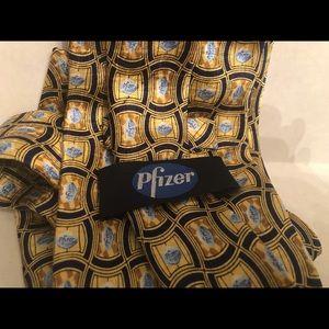 """Pfizer Accessories - Viagra Little Blue Pill Pfizer 58"""" Silk Necktie"""